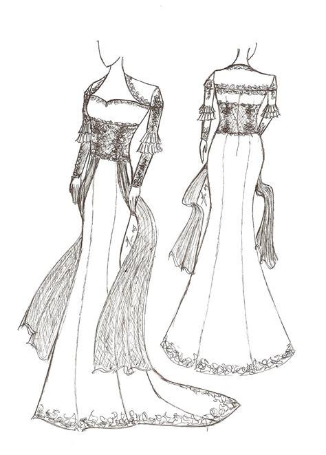 sketsa design gaun pengantin fashion holic sketsa baju