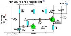 2 transistor mini fm transmitter schematic design