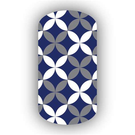 Ransel Motif Batik Navy navy blue gray white flower petal nail wraps