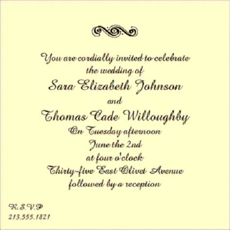 Wedding Announcement Sayings by Wording For Wedding Invitation Wedding Invitation