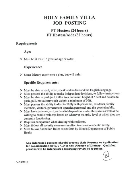 Resume For Aide Position Dietary Aide Resume Description