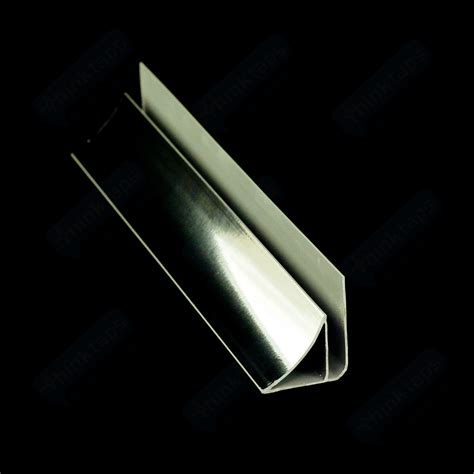 chrome quadrant trim coving pvc trim in white chrome for 5mm bathroom