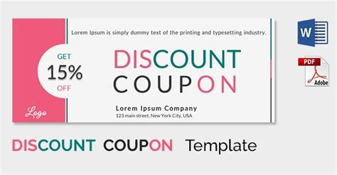 coupon design template journalingsage com