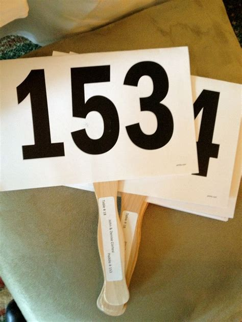 Charity Auction Trainwrecks Auction Paddle Number Template