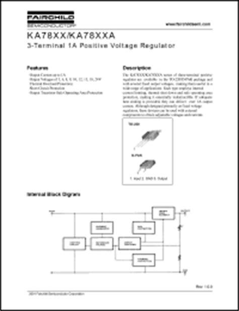 Ka7818 To 220 fairchild semiconductor ka7805 series datasheets ka7812ertf ka7806ae ka7806e ka7818etu