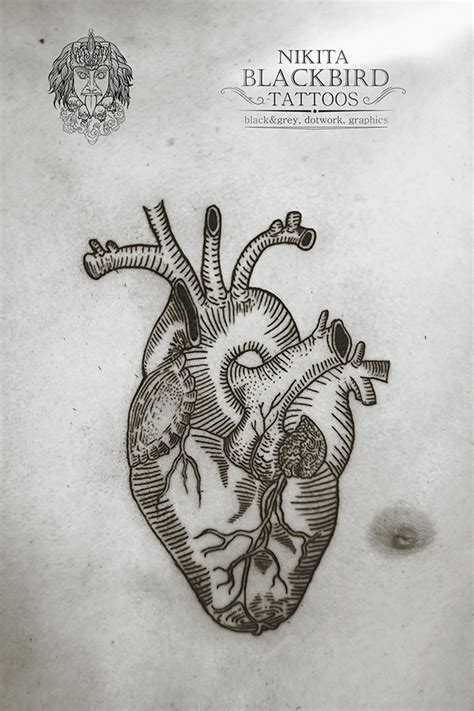 graphic heart tattoo on behance