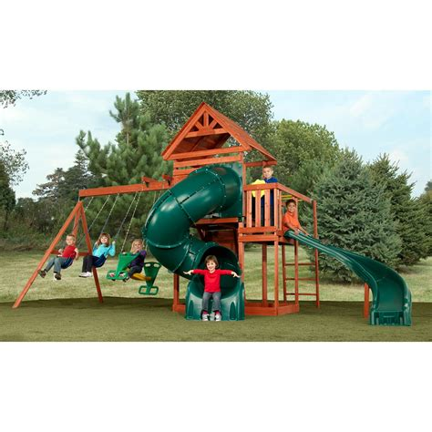 wooden swing sets with slide swing n slide grandview twist wood swing set swing sets