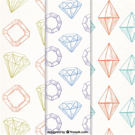 diamond pattern vector ai several diamond patterns in vintage style vector free