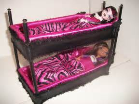 furniture for high dolls handmade coffin shaped bunk