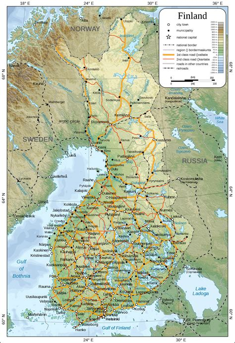 city maps of maps of finland detailed map of finland in