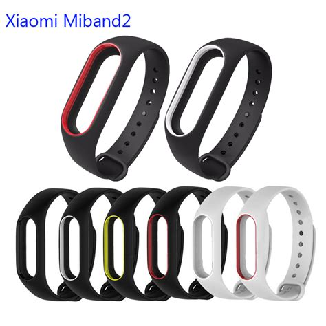 Xiaomi Mi Band Miband Silicone 6 1 color silicone for miband 2 xiaomi mi band 2 replacement wrist in