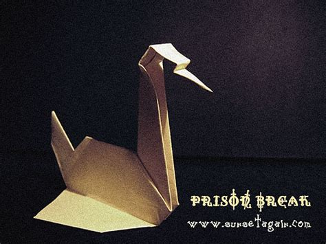 Prison Origami Crane - paper crane of prison by sunsetagain on deviantart