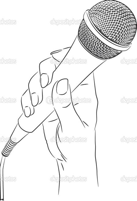 microphone tattoo sketch holding microphone drawing google search art project