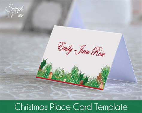 dinner name card template place card template lights decoration