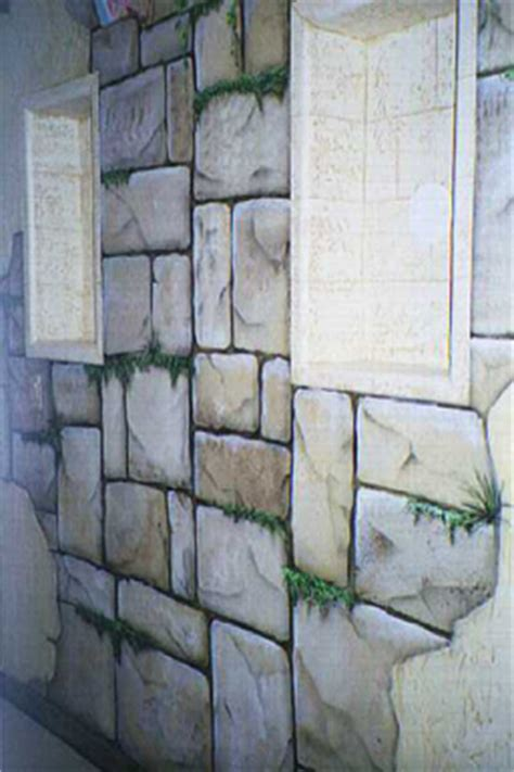 faux finish stones trompe l oeil and murals painted by - How To Paint Faux Rock Wall