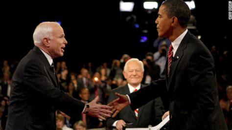 barack obama john mccain biography moderator schieffer has long tenure in washington