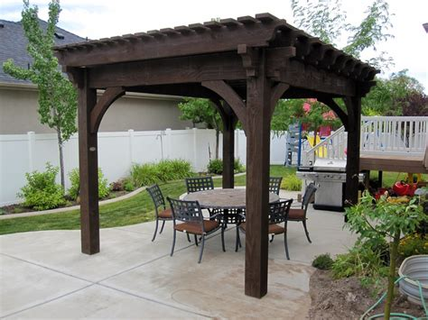 pergola in backyard 33 ideal backyard family dining rooms western timber frame