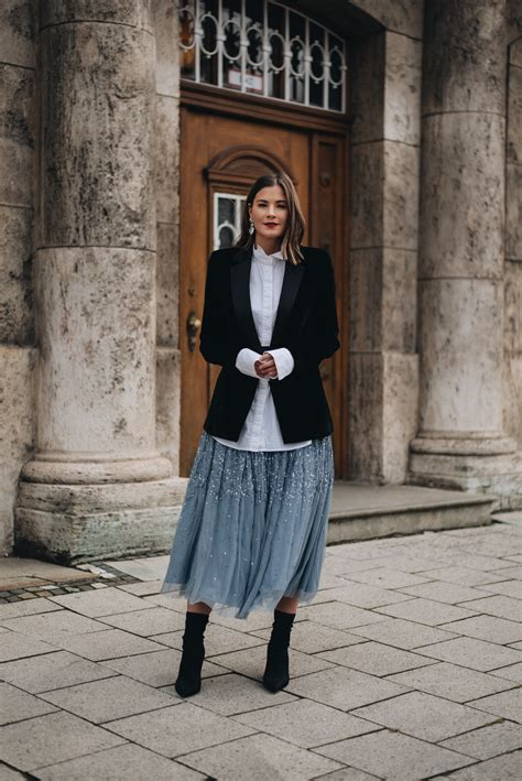 silvester outfit samt blazer sock boots mit tuell