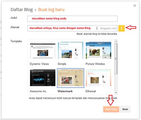 membuat blog selain di blogger dan wordpress cara membuat blog di blogspot tutorial blogger dan wordpress