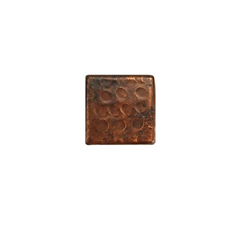 premier copper products 2 in x 2 in hammered copper