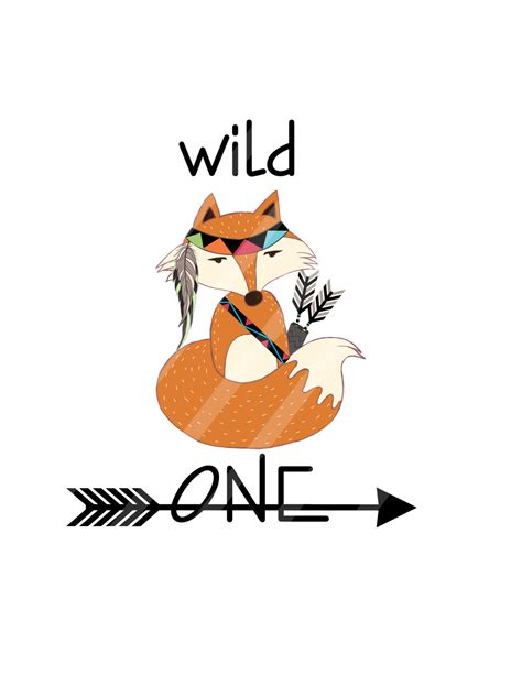 one fox one tribal indian fox digital for iron ons heat