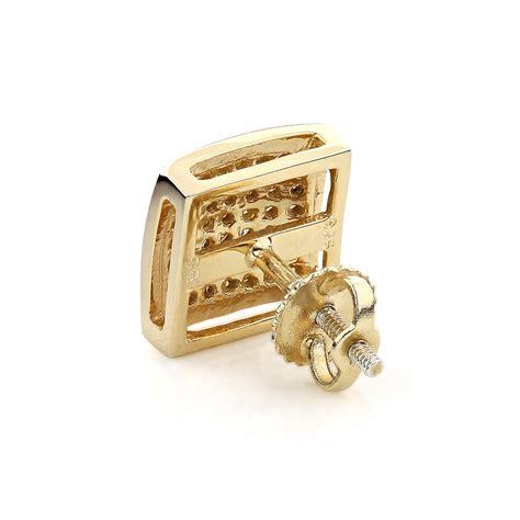 mens earring mens earrings yellow diamonds stud earring sterling silver 0 38ct