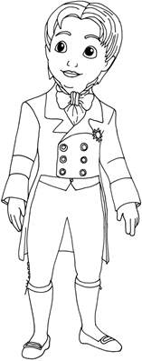 Sofia The First Coloring Pages Prince James Sofia The Prince Coloring Pages