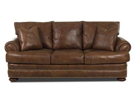 leather studio sofa klaussner montezuma leather studio sofa with rolled arms