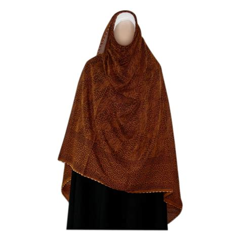brown pattern scarf shayla hijab scarf with pattern in red brown oriental style