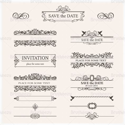 Wedding Border Photoshop Brushes 288 wedding photoshop brushes free vector eps abr ai