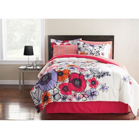 watercolor bedding set hometrends watercolor floral bed in a bag bedding set