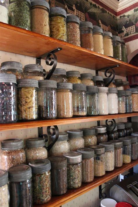Shelf Of Jarred Food by Pantry Jar Food Storage Saving Money