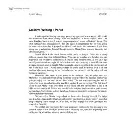 Exles Of Creative Writing Essays by Creative Writing Panic Gcse Marked By Teachers