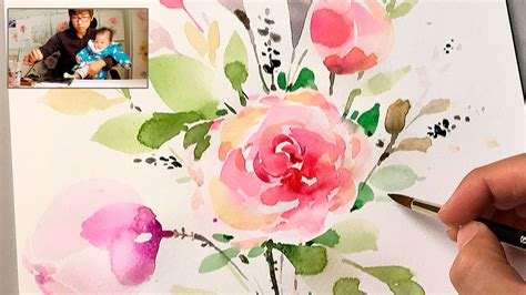 watercolor tutorial flowers youtube lvl4 how to paint flowers with watercolor step by step