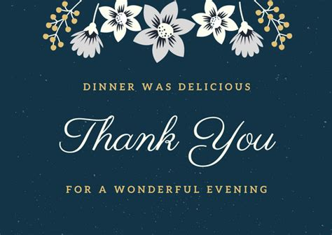 thank you cards for dinner template dinner thank you card wording birthday wishes