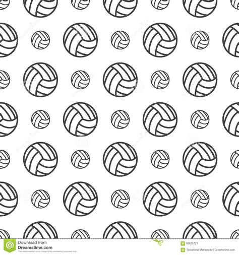 printable volleyball pattern seamless pattern with volleyball stock vector