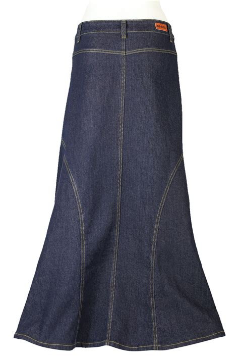 denim indigo modest skirt jean skirt plus