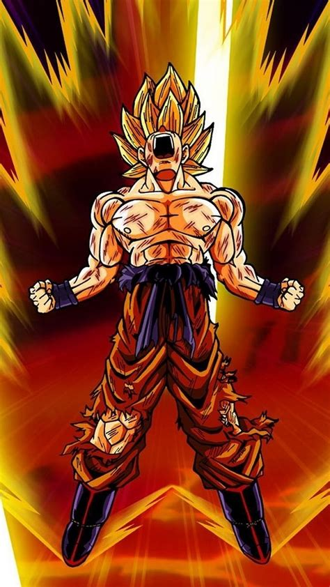 android wallpaper goku super saiyan  android wallpapers