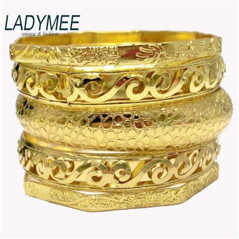 ladymee gelang emas disepuh bangles pulseiras indian