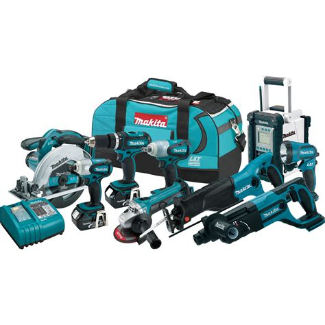 Nagita Set free shipping makita cordless combo kit 9 pc set 18