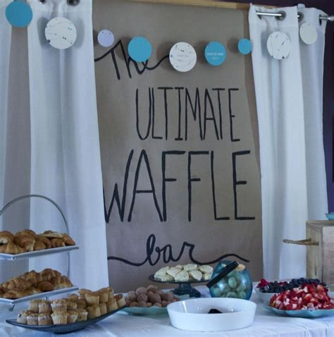 Showers For Couples by Couples Shower Ideas Couples Shower Ideas Waffle Bar