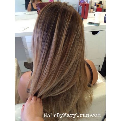 balayage light brown hair mary tran santa monica ca united states blended ombre