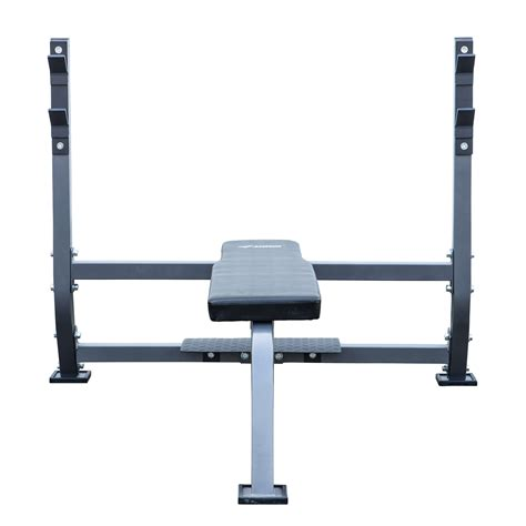 olympic style weight bench olympic bench w spotter stand fitness exercise weight