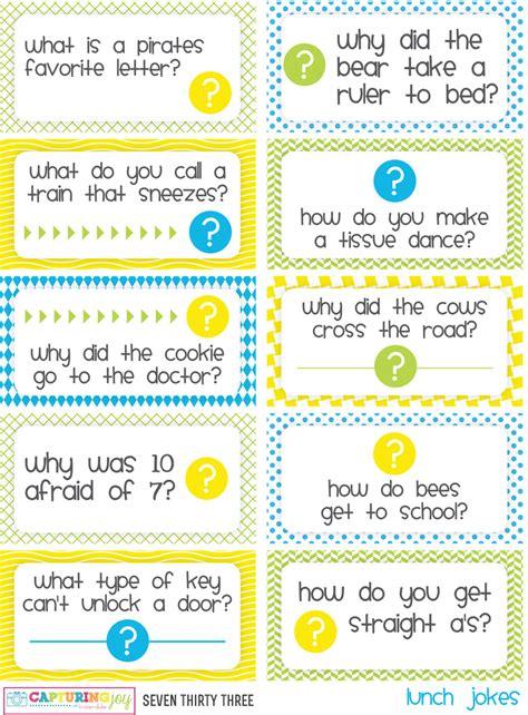 printable lunchbox jokes printable kids lunch jokes and brain teasers