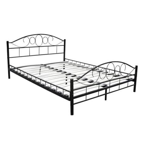 Bed Bigland 180 X 200 vidaxl nl 2 persoons bed zwart metaal 180 x 200cm