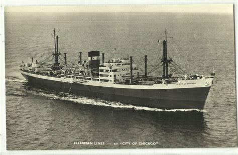 old boat lines steamship s s quot city of chicago quot ellerman lines boats old