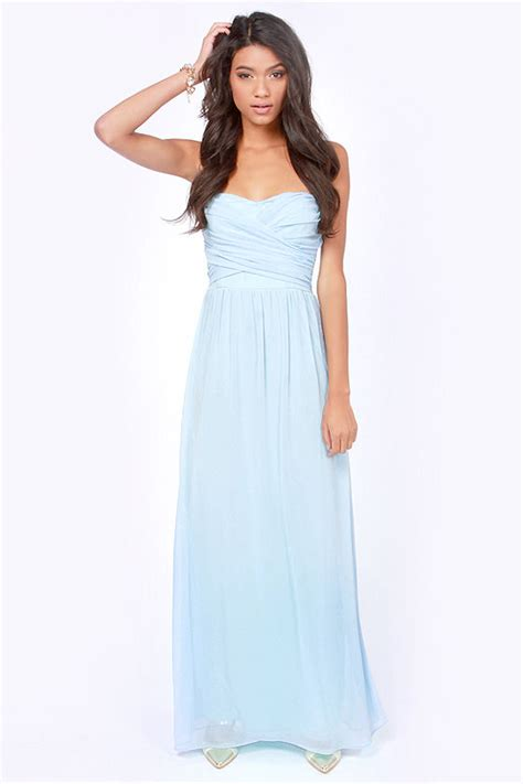 Light Blue Maxi Dress lovely light blue dress strapless dress maxi dress 71 00