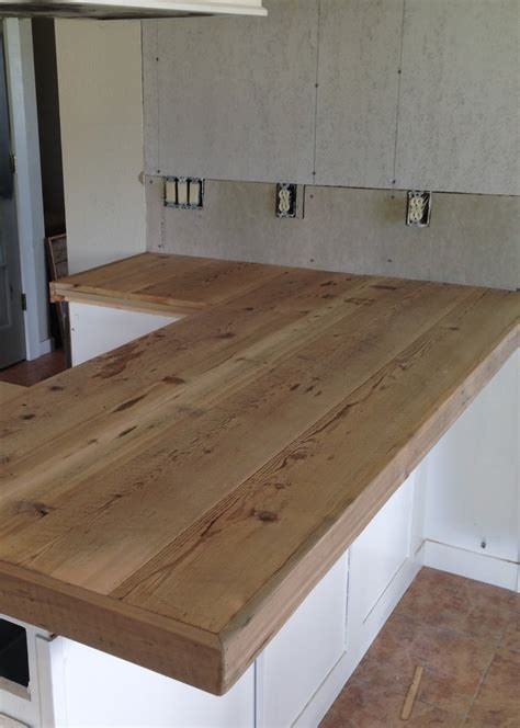 diy reclaimed wood countertop averie diy reclaimed