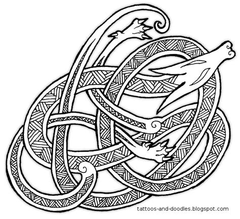 anglo saxon tattoo designs tattoos and doodles knot a