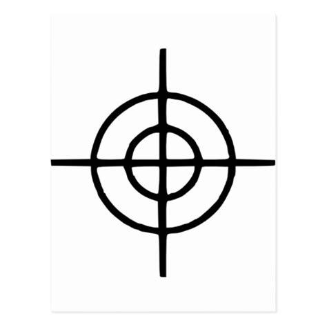 printable headshot targets crosshairs gun postcard zazzle